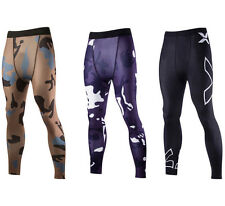 Mens Bike Cyling Long Pants Compression Skins Tights Gym Running Sports Trousers