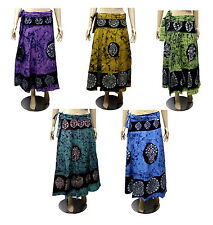 Apparels India 5Pcs-100pcs Batik Cotton Boho USA Wrap Around Skirt Wholesale Lot