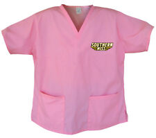 Cute SOUTHERN MISS Shirt Scrub Top SCRUBS For Ladies Women- GREAT For RELAXING!