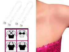 MULTI-WAY Clear Replacement Bra Straps, Pin-Latch Bra Hooks, Ultimate  Support