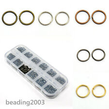 1 Box 4mm/5mm/6mm/7mm/8mm/10mm Mixed Close but Unsoldered Brass Jump Ring DIY