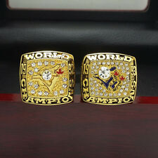 2pcs 1992 1993 Toronto Blue Jays World Series Championship Solid Ring 11Size+Box