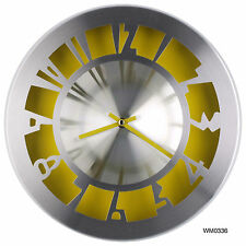 "12"" New Designed Modern AL. Metallic Colorful Wall Clock Large Decorative"