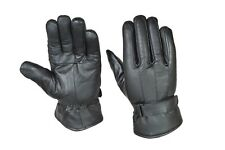 Soft Black Leather Sheepskin Driving Gloves with Thermal Thinsulate Lining