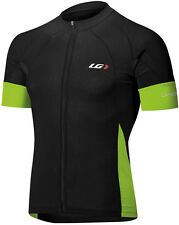 LOUIS GARNEAU ROAD ELITE PERFORMANCE SS CARBON BIKE JERSEY BLACK/GREEN 2014