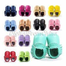 Cute Baby Kids Tassel Soft Sole Leather Shoes Infant Boy Girl Toddler Moccasin