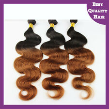 100g Ombre Remy Body Wave Brazilian Human Hair Extensions Two Tones Hair Waft