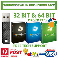 Windows 7 HOME PREMIUM PROFESSIONAL ULTIMATE 32 64 Bit USB Installer DRIVER PACK