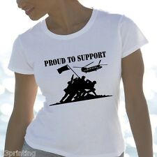 unofficial Proud to Support HELP FOR HEROES SKINNY LADY FIT T SHIRT