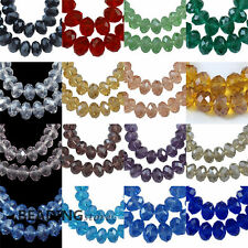 1strand Crystal Suncatcher Faceted Abacus Rondelle Glass Loose Spacer Beads 8mm