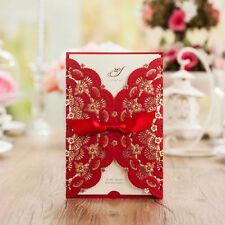 Red Wedding Invitation Kit Chinese Style Invite with Envelope,Seal,Custom Print