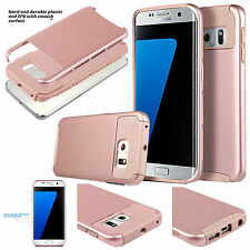 Dual Layer Shockproof Hybrid 2in1 Hard Case Cover For Samsung Galaxy S7/S7 Edge