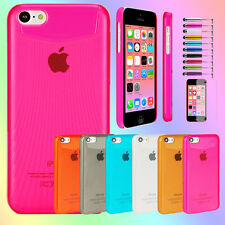 Colorful Color PC Hard Clear Transparent Cover Case Protector For iPhone 5C