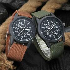 Mens Watches Stainless Steel Dial Military Sport Date Analog Quartz Wrist Watch