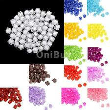 100pcs 10mm Square Acrylic Faceted Loose Spacer Beads Fashion Jewelry Making