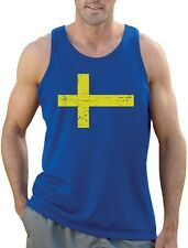Sweden Flag Vintage Style Retro Swedish Singlet Gift Idea