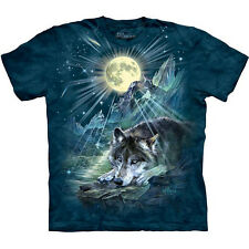 WOLF NIGHT SYMPHONY T-Shirt The Mountain Full Moon Wolves Howling S-5XL NEW