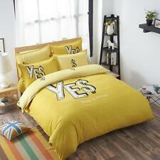 Single Queen King Size Bed Set Pillowcase Quilt Duvet Cover Yellow Money O