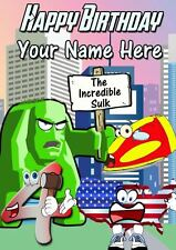 Superhero Avengers All Occasions Personalised Greeting Card Birthday PIDAVE