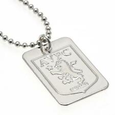 Official Football Aston Villa F.C. Silver Plated Dog Tag & Chain Xmas Gift