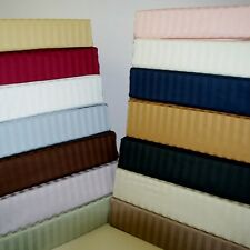 600 Thread Count Stripe Combed Cotton Sheet Set - ALL COLORS - ALL SIZES