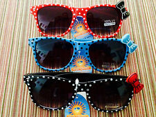 NWT Wayfarer Pin-up style Sunglasses With Hello Kitty style bow