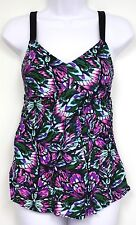 Liz Lange Maternity Swim Suit Target Pink Butterfly Swimsuit SMALL New
