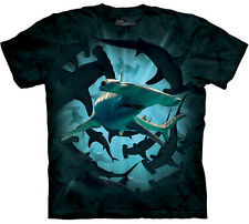 The Mountain HAMMERHEAD SWIRL Shark Week Collage T-Shirt S-3XL NEW