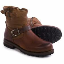 Frye Warren Engineer Boots Leather Shearling Lined Whiskey Men NEW