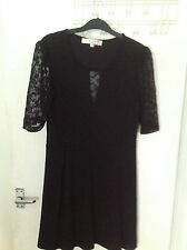 French Connection Sz 10 Black Lace Back Dress, New