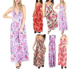 Womens Ladies Sheering Ruched Spring Coil Long Jersey Maxi Dress Plus Size