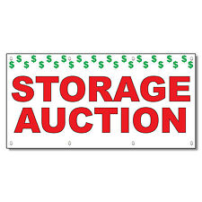 Storage Auction Red 13 Oz Vinyl Banner Sign With Grommets