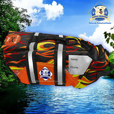 Paws Aboard Dog Life Jacket Boat Swim Vest Racing Flames SMALL 15-20 lb Dog S