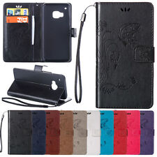 Filp Leather Wallet Credit Card Stand Hand Strap Cover Case For HTC One M8 M9
