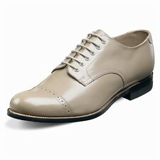 Stacy Adams Mens Taupe Madison Cap Toe Dress Formal Oxford Trending Work Shoe