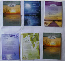 Fathers Day Graveside Bereavement Memorial Grave Cards Keepsake meaningful words