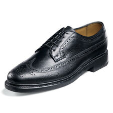 Florsheim Men's Kenmoor wing tip leather Black Tumbled Shoes 17109-78