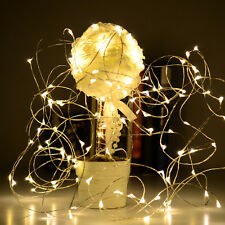 10 - 50Led Solar/Battery Power Fairy Light String Lamp Party Xmas Garden Outdoor