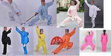 Unisex CUSTOMIZE blue Linen tai chi clothing martial arts suits kung fu uniform