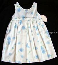 Sophie Dess Toddler Girls Dress White Blue Floral Special Occasion 18 M (81) NEW
