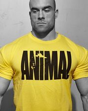Gym Men's Animal Bodybuilding T Shirt Athletic Fitness Muscular Fit Tee Clothing