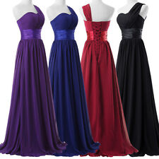 Chiffon Women Long Formal Bridesmaid Cocktail Ball Dress Prom Evening Party Gown