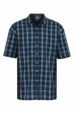 Champion Mens Brighton Polycotton Button Front Short Sleeve Summer Checked Shirt