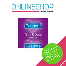 PASANTE RIBS & DOTS INTENSITY CONDOMS RIBBED DOTTED  1 - 100 pcs ORIGINAL