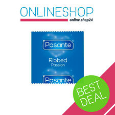 PASANTE RIBBED CONDOMS EXTRA RIBS ELITE FEEL 1 - 100 pcs ORIGINAL