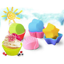 5Pcs Silicone Cake Chocolate Mould Pudding Muffin Cupcake Mold Baking Cup Liners