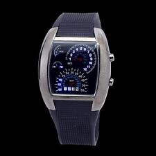 New Men RPM Turbo Flash LED Car Speed Meter Dial Sports Wrist Watch 7 Color Gift