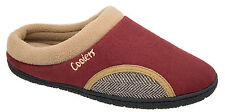 Mens Coolers Burgundy Red Warm Fleece Lined Mule Slippers 7 to 12