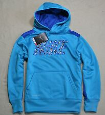 NWT BOYS YOUTH NIKE THERMA-FIT TURQUOISE PULLOVER HOODIE JACKET COAT SZ S-XL