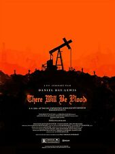 Movie Poster for THERE WILL BE BLOOD framed  Art Silk Fabric poster